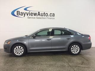 Used 2014 Volkswagen Passat TRENDLINE- ALLOYS|HTD STS|DUAL CLIMATE|BLUETOOTH! for sale in Belleville, ON