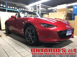 Used 2016 Mazda Miata MX-5 GT  6sp Tan Leather,NAVIGATIN-TORONTO for sale in North York, ON