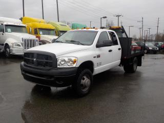 Used 2009 Dodge Ram 3500 Quad Cab 2WD 9 Foot Flatdeck with Winch for sale in Burnaby, BC