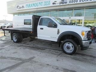 Used 2017 Ford F-550 Reg Cab 4x4 Diesel with 12 ft flat deck for sale in Richmond Hill, ON