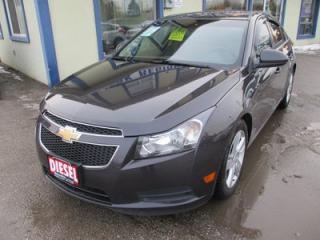 Used 2014 Chevrolet Cruze LOADED 'DIESEL' 5 PASSENGER 2.0L - DOHC.. LEATHER.. HEATED SEATS.. BACK-UP CAMERA.. BLUETOOTH.. TOUCH SCREEN.. for sale in Bradford, ON