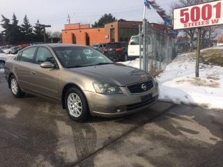 Used 2005 Nissan Altima 2.5S,4CYL,AUTO,SAFETY+3YEARS WARRANTY INCLUDED for sale in North York, ON