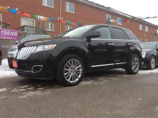 Used 2011 Lincoln MKX 3.7L/AWD/Nav/Bluetooth/Leather/Blind-Spot Monitor for sale in Scarborough, ON