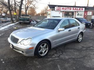 Used 2001 Mercedes-Benz C240 Clean Carproof/LOW KM/Leather/Roof/Certified for sale in Scarborough, ON