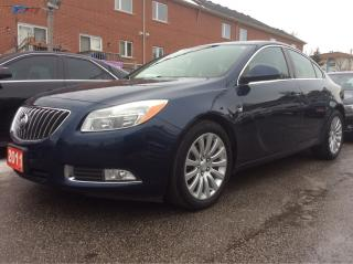 Used 2011 Buick Regal CXL w/1SD NAV/BLUETOOTH/LEATHER/SUNROOF/MUST SEE for sale in Scarborough, ON