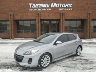 Used 2013 Mazda MAZDA3 GT | NAVIGATION | LEATHER | SUNROOF | BLUETOOTH | for sale in Mississauga, ON
