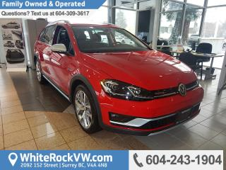 New 2018 Volkswagen Golf Alltrack 1.8 TSI Bluetooth, Navigation & Power Moonroof for sale in Surrey, BC