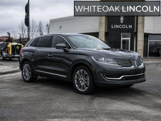 Used 2017 Lincoln MKX Reserve, tech, navi, pano roof, factory certified for sale in Mississauga, ON