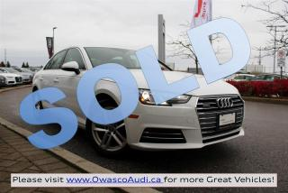 Used 2017 Audi A4 *SOLD* quattro Komfort w/ Audi Pre Sense Basic for sale in Whitby, ON