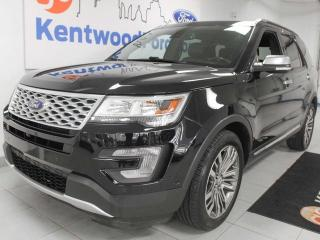 Used 2017 Ford Explorer Platinum 4WD ecoboost, NAV, sunroof, heated/cooled power leather seats, rear climate control with rear heated seats, power 3rd row seats, power liftgate for sale in Edmonton, AB