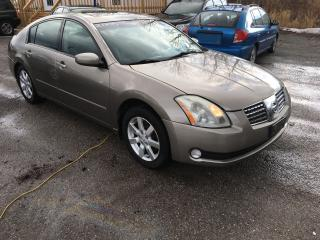Used 2005 Nissan Maxima 3.5 SE/AUTO/LEATHER/ROOF/LOADED/ALLOYS for sale in Pickering, ON