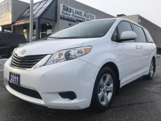 Used 2011 Toyota Sienna LE 8 Passenger ACCIDENT FREE|8 PASSENGER|POWER SLIDDING DOORS|BACK CAM for sale in Concord, ON