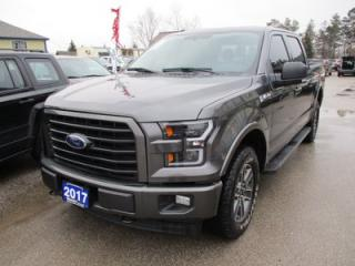 Used 2017 Ford F-150 LOADED XLT MODEL 5 PASSENGER 5.0L - V8.. 4X4.. CREW.. SHORTY.. HEATED SEATS.. NAVIGATION.. BACK-UP CAMERA.. BLUETOOTH.. POWER REAR WINDOW.. for sale in Bradford, ON