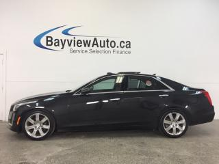 Used 2014 Cadillac CTS - 3.6L|AWD|REM STRT|PANOROOF|HTD LTHR|NAV|BSA|ACC! for sale in Belleville, ON