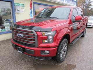 Used 2016 Ford F-150 LOADED LARIAT MODEL 5 PASSENGER 5.0L - V8.. 4X4.. CREW.. SHORTY.. LEATHER.. HEATED/AC SEATS.. SUNROOF.. NAVIGATION.. BACK-UP CAMERA.. for sale in Bradford, ON