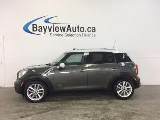 Used 2014 MINI Cooper Countryman S- TURBO|AWD|PANOROOF|HTD LTHR|BLUETOOTH|CRUISE! for sale in Belleville, ON