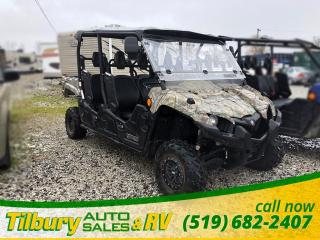 Used 2017 Yamaha VIKING EPS CAMO *Windshield. Side & Rear view Mirrors. Seats 6* for sale in Tilbury, ON