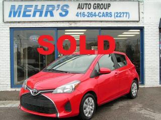 Used 2015 Toyota Yaris LE Loaded Bluetooth Mint Cond. for sale in Scarborough, ON
