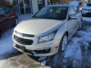 Used 2016 Chevrolet Cruze LOADED LTZ - RS MODEL 5 PASSENGER 1.4L - TURBO.. LEATHER.. HEATED SEATS.. NAVIGATION.. SUNROOF.. BACK-UP CAMERA.. for sale in Bradford, ON