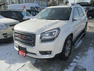 Used 2015 GMC Acadia LOADED SLT-1 MODEL 7 PASSENGER 3.6L - V6.. AWD.. CAPTAINS.. 3RD ROW.. LEATHER.. HEATED SEATS.. NAVIGATION.. DUAL SUNROOF.. BACK-UP CAMERA.. for sale in Bradford, ON