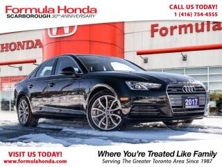 Used 2017 Audi A4 2.0T | NAVIGATION | ONLY $37,970 for sale in Scarborough, ON
