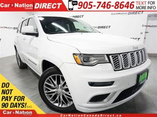 Used 2017 Jeep Grand Cherokee Summit| LOW KM'S| PANO ROOF| NAVI| for sale in Burlington, ON