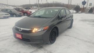 Used 2012 Honda Civic Sdn LX for sale in Barrie, ON