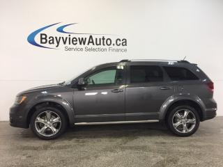 Used 2017 Dodge Journey CROSSROAD- AWD|REM STRT|SUNROOF|HTD LTHR|DVD|NAV! for sale in Belleville, ON