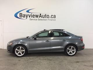 Used 2015 Audi A3 KOMFORT- TDI|SUNROOF|HTD LTHR|BLUETOOTH|CRUISE! for sale in Belleville, ON