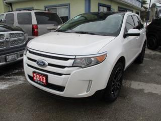 Used 2013 Ford Edge LOADED SEL MODEL 5 PASSENGER 3.5L - V6.. AWD.. LEATHER.. HEATED SEATS.. NAVIGATION.. DUAL SUNROOF.. BLUETOOTH.. BACK-UP CAMERA.. for sale in Bradford, ON