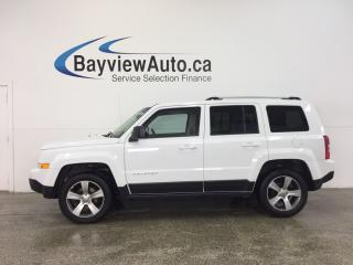 Used 2017 Jeep Patriot HIGH ALTITUDE- 4x4|SUNROOF|HTD LTHR|NAV|UCONNECT! for sale in Belleville, ON