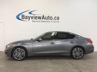 Used 2016 Infiniti Q50 S- AWD|TWIN TURBO|REM STRT|ROOF|HTD LTHR|REV CAM! for sale in Belleville, ON