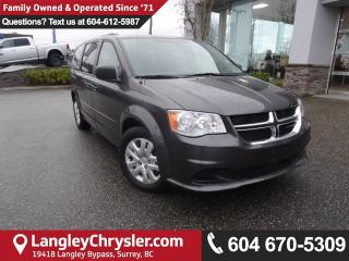 Used 2016 Dodge Grand Caravan SE/SXT <b>*Bluetooth*TRI-ZONE CLIMATE*ACCIDENT FREE*<b> for sale in Surrey, BC