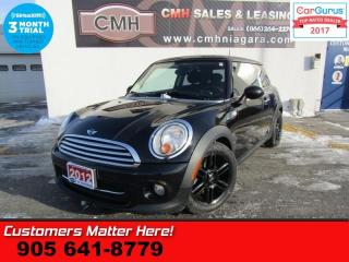 Used 2012 MINI Cooper Hardtop Base  BAKER STREET EDITION, AUTO, SUNROOF, PAINTED ALLOYS for sale in St Catharines, ON