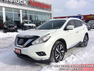 Used 2015 Nissan Murano Platinum  - Sunroof -  Navigation - $214.97 B/W for sale in Woodstock, ON