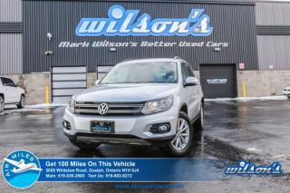 Used 2017 Volkswagen Tiguan Wolfsburg Edition  LEATHER! REAR CAMERA! HEATED SEATS! BLUETOOTH! 6