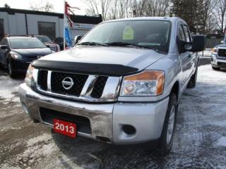 Used 2013 Nissan Titan 'GREAT VALUE' POWER EQUIPPED SV MODEL 5 PASSENGER 5.6L - V8.. 4X4.. CREW CAB.. LONG BOX.. BACK UP CAMERA.. CD/AUX INPUT.. BLUETOOTH.. for sale in Bradford, ON