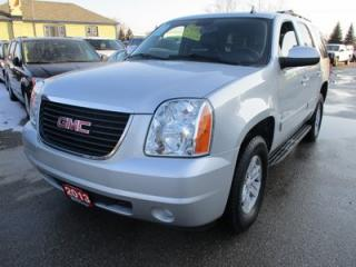 Used 2013 GMC Yukon LOADED SLE MODEL 9 PASSENGER 5.3L - V8.. 4X4.. MIDDLE BENCH.. 3RD ROW.. LEATHER.. HEATED SEATS.. CD/AUX INPUT.. TOW SUPPORT.. for sale in Bradford, ON