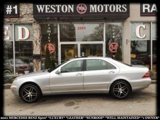 Used 2001 Mercedes-Benz S-Class LUXURY*LEATHER*SUNROOF*WELL MAINTAINED*1 OWNER* for sale in York, ON