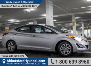 Used 2015 Hyundai Elantra GL BC OWNED & ACCIDENT FREE for sale in Abbotsford, BC