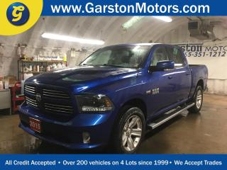 Used 2015 Dodge Ram 1500 SPORT*CREW CAB*4X4*HEMI*NAVIGATION*LEATHER*BACK UP CAMERA*U CONNECT PHONE*SPORT PERFORMANCE HOOD* for sale in Cambridge, ON