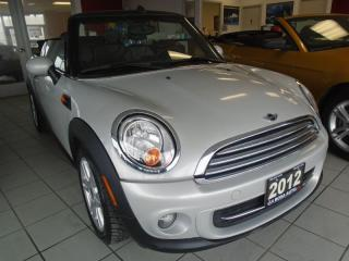 Used 2012 MINI Cooper Convertible NO ACCIDENTS, 2 SETS OF TIRES ,AUX, USB for sale in Oakville, ON