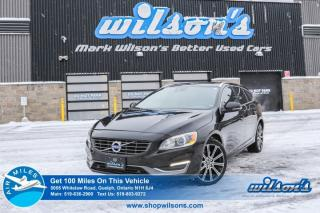 Used 2015 Volvo V60 T6 Premier Plus LEATHER! SUNROOF! BLUETOOTH! ALLOYS! POWER PKG! SUV for sale in Guelph, ON