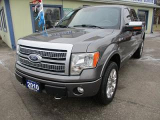 Used 2010 Ford F-150 LOADED PLATINUM MODEL 5 PASSENGER 5.4L - V8.. 4X4.. CREW.. SHORTY.. LEATHER.. HEATED/AC SEATS.. NAVIGATION.. BACK-UP CAMERA.. SUNROOF.. BLUETOOTH.. for sale in Bradford, ON