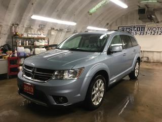 Used 2013 Dodge Journey CREW*U CONNECT PHONE*Uconnect 8.4 inch touch screen CD/DVD/MP3*KEYLESS ENTRY w/REMOTE START*HEATED FRONT SEATS/STEERING WHEEL*PUSH BUTTON TO START*POW for sale in Cambridge, ON