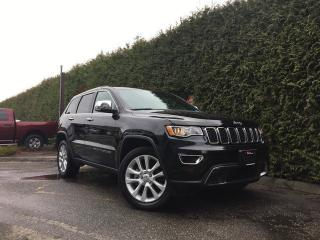 Used 2017 Jeep Grand Cherokee Limited 4x4 + SUNROOF + LEATHER HEATED FT/RR SEATS + BACK-UP CAM + REAR PARK ASSIST for sale in Surrey, BC