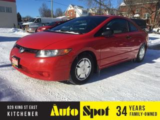 Used 2008 Honda Civic COUPE DX-G/PRICED FOR A QUICK SALE ! for sale in Kitchener, ON