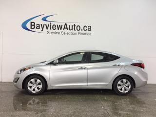 Used 2016 Hyundai Elantra - 1.8L|AUTO|ECO MODE|A/C|CRUISE|LOW KM! for sale in Belleville, ON