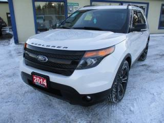 Used 2014 Ford Explorer LOADED SPORT EDITION 6 PASSENGER 3.5L - ECO-BOOST.. 4WD.. CAPTAINS & 3RD ROW.. LEATHER.. NAVIGATION.. DUAL SUNROOF.. BACK-UP CAMERA.. for sale in Bradford, ON
