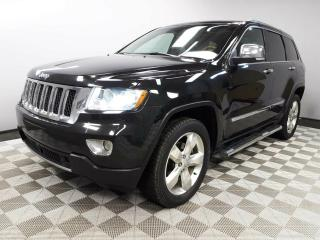 Used 2013 Jeep Grand Cherokee Overland - Local One Owner Trade In | No Accidents | Navigation | Back Up Camera | Parking Sensors | Panoramic Sunroof | Trailer Package | 20 Inch Wheels | Air Suspension | Adjustable Drive Modes | Radar Cruise Control | Pre-Collision Warning | Blind Spot for sale in Edmonton, AB